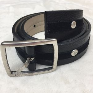 Ann Taylor Genuine Pebbled Leather Belt with Suede